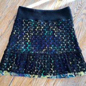 FREE PEOPLE crochet overlay skirt
